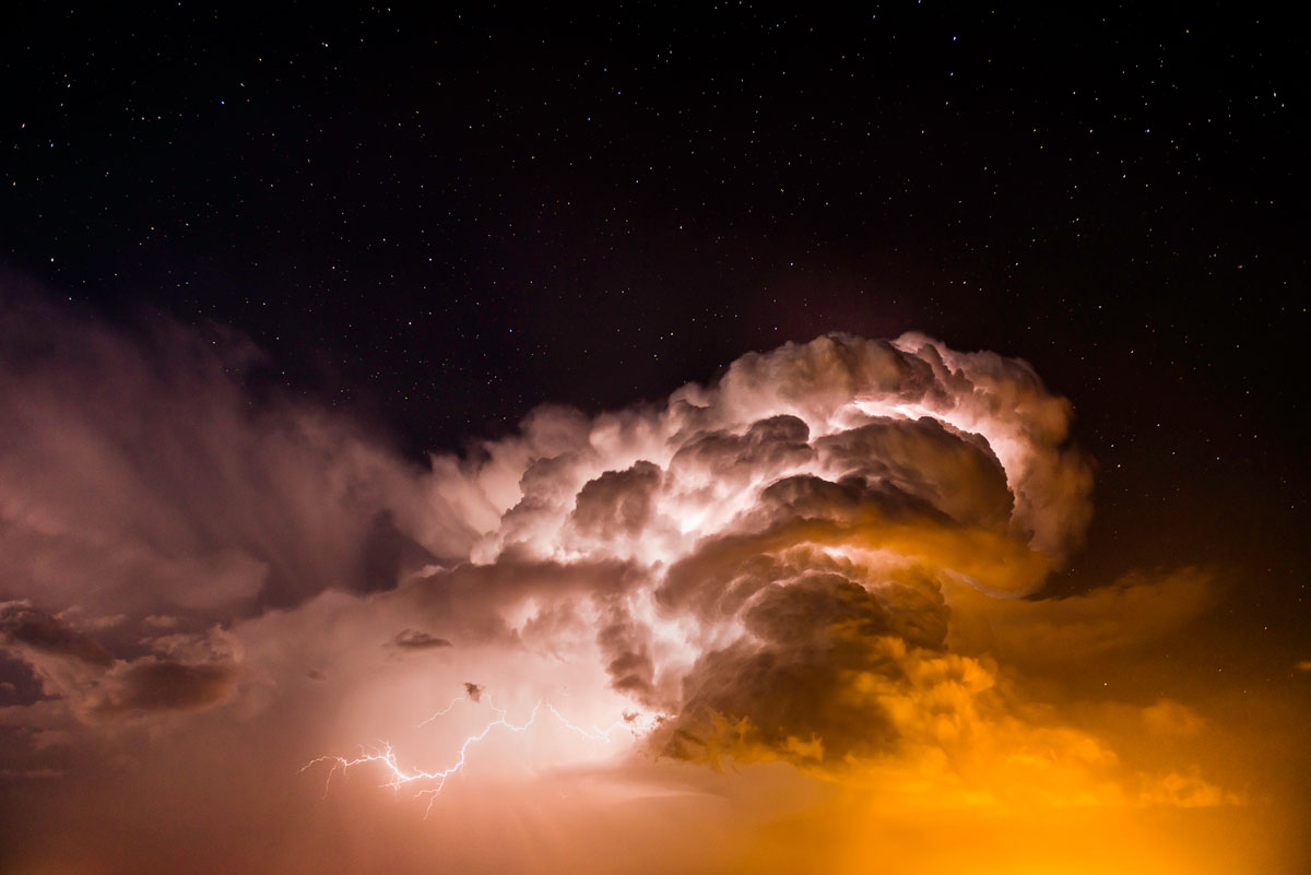 Heat Lightning and Stars. Burlington, Colorado – Eric Meola