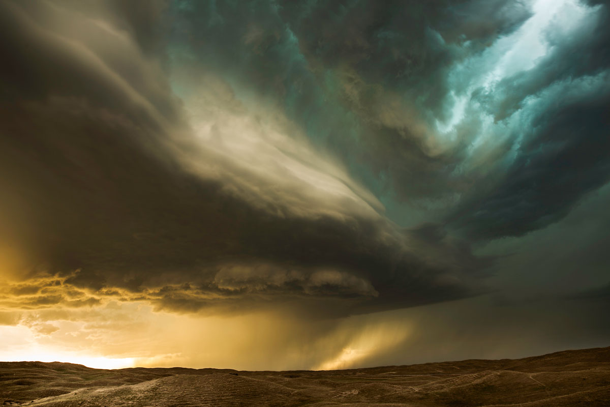 Updraft Shear. Sand Hills, Nebraska – Eric Meola