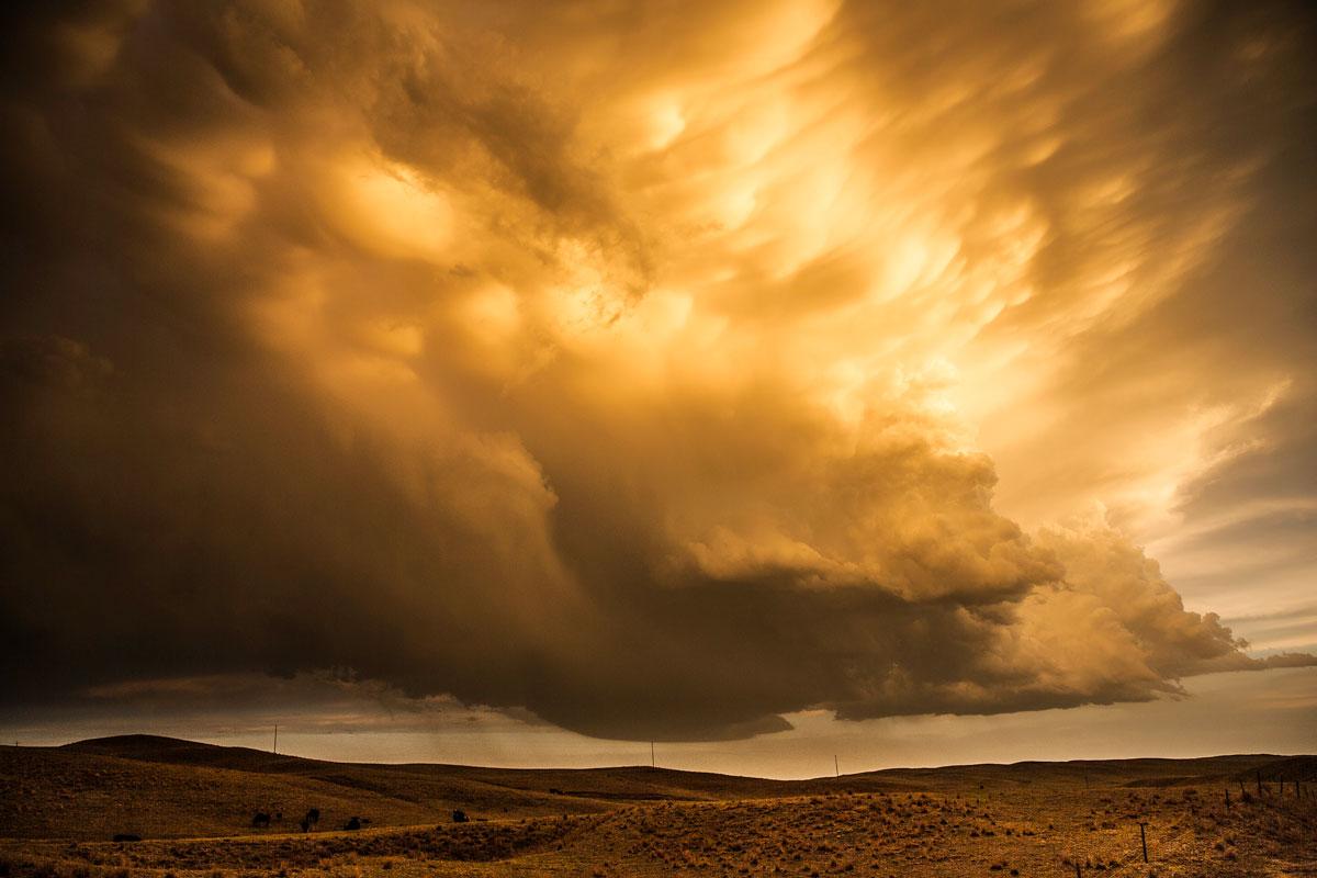 Mammatus Clouds. Sand Hills, Nebraska – Eric Meola