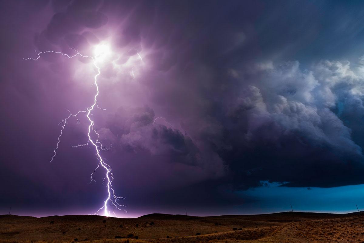 Lightning Storm. Hyannis, Nebraska – Eric Meola