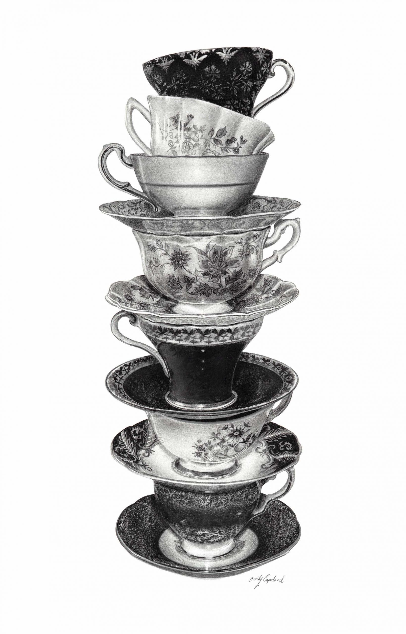 Stack of Teacups – Emily Copeland
