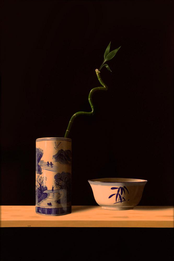 Blue Vessel White Bowl – Matthew Pierog