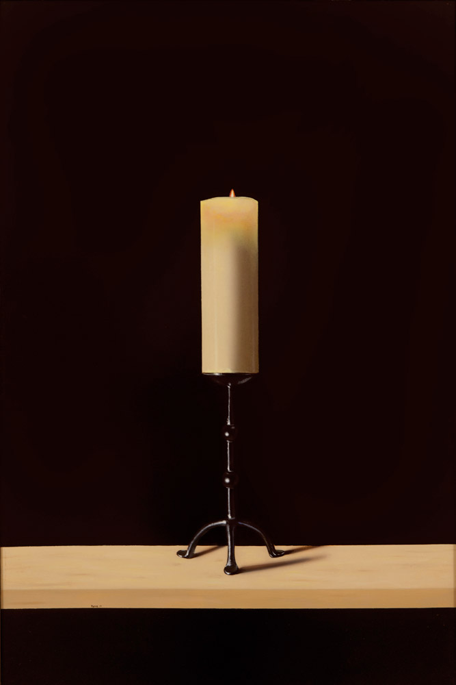 Lit Candle – Matthew Pierog-x-24-in