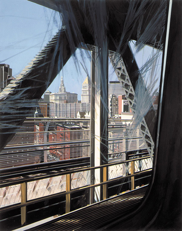 View of the W Train Crossing the Manhattan Bridge – Richard Estes